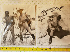 Clayton Moore Signed Reprints The Lone Ranger and Tonto 8x10 Photo 07 &12