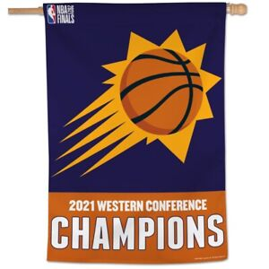 Phoenix Suns Flag 2021 Western Conference Champions Vertical House Banner