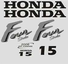 Adesivi motore marino fuoribordo Honda 15 hp carb four stroke gommone barca