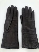Vintage Brown Gloves - Size Small - SOFT LEATHER - Long Formal Driving