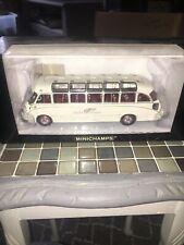 "Minichamps 1/43 Setra S8 Reisebus ""taeter und ziemons Aachen"" 439 030086 Como Nuevo"