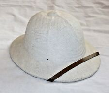 Vintage Military Pith Sun Helmet E.H. SHUTTLEWORTH Canada Pressed Cork Fiber