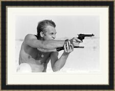 Steve McQueen mounted framed print - Pistols - 4 frame choices - 2 sizes