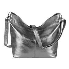 Señora cuero bolso bandolera Shopper metalizado bandolera crossbody viaje