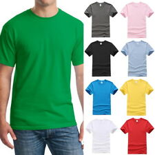 Casual Mens Solid Color Crew Neck T-Shirts Summer Hip Hop T-Shirt Tee Blouse new