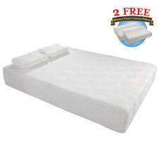 "New 10"" Cool Medium-Firm Memory Foam Mattress Bed w/2 Free GEL Pillows Full Size"
