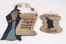 2 Linda Stang Wooden Magic Signs Apprentice Wizard & School of Wizardry Lesson