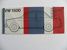 Brochure Volkswagen VW 1500 nuancier couleur