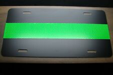 THIN GREEN LINE LICENSE PLATE FEDERAL AGENTS  MILITARY PERSONNEL REFLECTIVE LINE