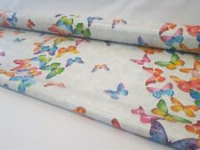 COLOURFUL MULTI BUTTERFLY PVC OILCLOTH EASY CARE TABLE CLOTH £5.99 A METRE