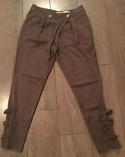 """Authentic DKNY Jeans Ladies Brown Trousers Buckle Ankles size 0 W31"""""""