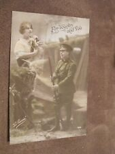World War 1 postcard - British Army Soldier  -  For Country & You - Patriotic