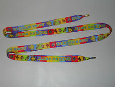 "Rainbow Brite One Pair 45"" Multi-Color Shoelaces 3/4""-Wide Hip Hop Girls TV Show"
