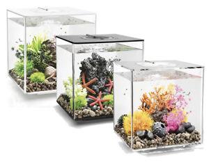 biOrb Cube MCR 30L Aquariums Black/White/Clear Fish Tank Filter LED Oase