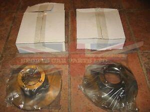 Pair of New Brake Rotors MG Midget Austin Healey Sprite with Steel Wheels