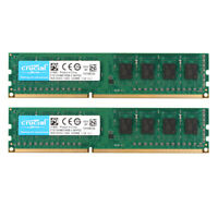 2pcs Crucial 4GB PC3-8500U 2Rx8 DDR3 1066MHz 240pin Desktop RAM DIMM Memory 1.5V