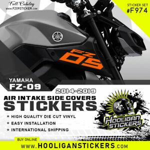Yamaha FZ-09 2014-2019 air intake side cover BIG sticker set [F974]
