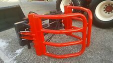 """Mb Havey Duty Round Bale Grapple squeeze skid steer tractor attachment 48-82"""""""