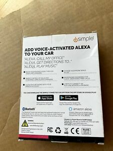 iSimple - Voice Activated Connected Car Kit with Alexa Bluetooth