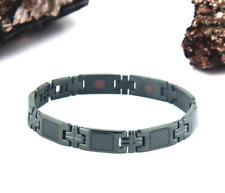 Authentic Pur life Negative Ion Bracelet ELEGANT CARBON BLACK STEEL PURLIFE