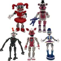 5PCS/set Five Nights at Freddy's Sister Location Action Figures Party Toy FNAF