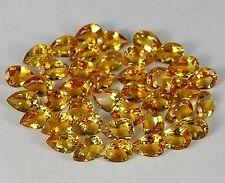 Citrin Tropfen Gelb 8x5mm - Natürlicher Edelstein