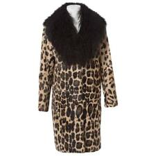 RARE AMAZING SONIA RYKIEL LEOPARD PRINTED COAT LAMB FUR JACKET SIZE 36 FR 40 IT