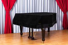 Clairevoire Grandeur: Premium Velvet Grand Piano Cover 6ft 1in [Midnight Black]