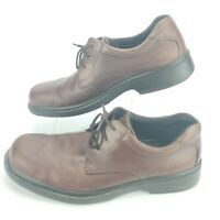 ECCO Round Toe Oxfords Men's Size US 11, EU 45 Brown Leather Lace-Up Dress Shoes