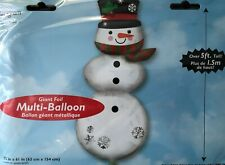 1.5 Merry Christmas Snowman Giant Foil Helium Balloon - Cheapest On eBay!