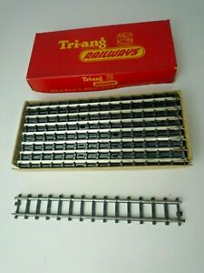VINTAGE TRIANG 00/H0 SCALE 12 LENGTHS R190 STRAIGHT TRACK  ORIGINAL BOX SERIES 3