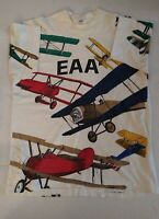 VINTAGE AVIATION EAA  SHIRT LARGE PLANES 90s