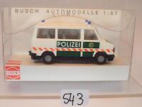 Busch 1/87 Nr. 43247 Fiat Ducato Bus Polizei neutral OVP #543