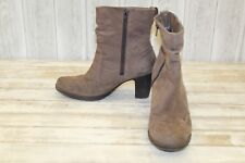 Rockport Cobb Hill Kristen Suede Ankle Boots, Women's Size 10 M, Taupe