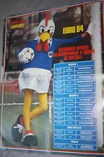 POSTER )) EURO 84 FRANCE  / CALENDRIER / FOOTIX