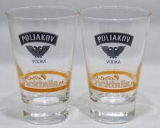 POLIAKOV VODKA 2 verres Cocktails haut  NEUF