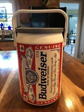 BUDWEISER LARGE BEER CAN COOLER IN GREAT USED CONDITION MAN CAVE COLLECTIBLE