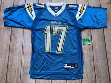 Reebok SAN DIEGO CHARGERS NFL #17 PHILIP RIVERS Blue Football Jersey Men Small S
