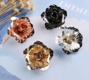 Rose Flower Lapel Pin Metal Women Men Cloth Brooch pin Wedding Suit Accessories