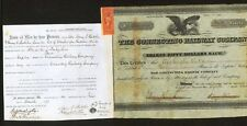 1868 J Edgar Thomson - Pennsylvania Railroad Baron RARE signed Stock Certificate
