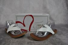 Mia Patriciaa Flip Flop Sandals Size 9.5 M White