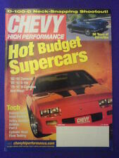 CHEVY HI PERFORMANCE - 50 YRS COVETTES - June 2002