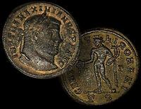 MAXIMIANUS, Roman EMPEROR 286-305 AD Large Bronze Follis Coin Thessalonica +COA