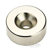 N50 Small Disc Magnet 25mm x 10mm Ring Hole 5mm Rare Earth Neodymium