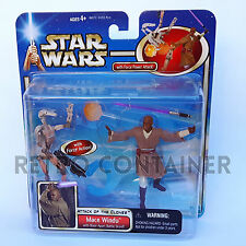 STAR WARS Kenner Hasbro Action Figure - SAGA - Mace Windu vs. Battle Droid