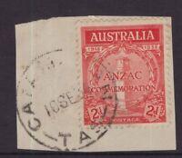 Tasmania CATAMARAN type 4a postmark on piece rated R by Hardinge