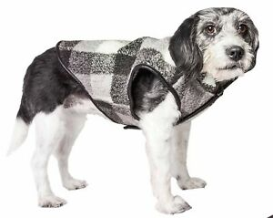 Pet Life  'Black Boxer' Classical Plaided Insulated Dog Coat Jacket, Black, G...