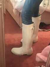 White Hunter Boots Wellingtons Size 8 New Without Box