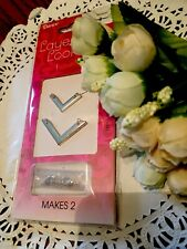 Darice Delicately Yours Layering Necklaces Makes 2 Silver V-Shape New!
