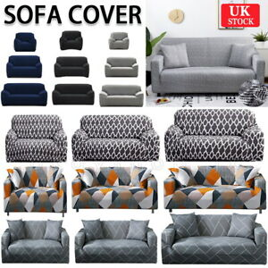 1/2/3 Sofa Covers Couch Slipcover Stretch Elastic Fabric Settee Protector Cover